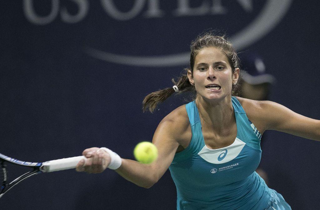 Julia Görges zieht ins Achtelfinale der US Open ein. Foto: dpa