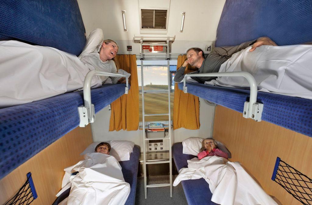 Fahrten in Schlafwagen sind sehr beliebt. Foto: Deutsche  Bahn