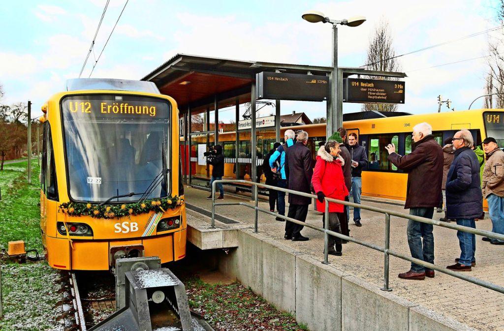 Momentan enden die Stadtbahn-Linien vor der Kreisgrenze. Foto: factum/Jürgen Bach