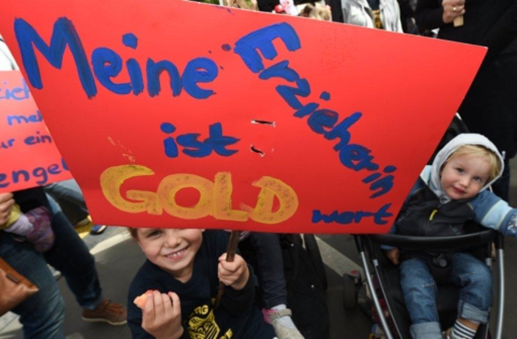 In den Kitas in Baden-Württemberg ist auch am Dienstag wieder gestreikt worden (Symbolbild). Foto: dpa