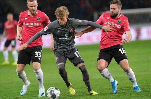 Hannover 96 verliert Absteigerduell gegen 1. FC Nürnberg klar