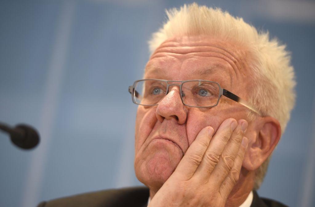Winfried  Kretschmann wird das Thema nicht los. Foto: dpa