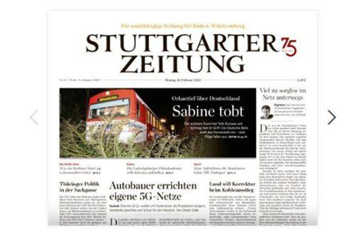 E-Paper der Stuttgarter Zeitung für alle Leser freigeschaltet