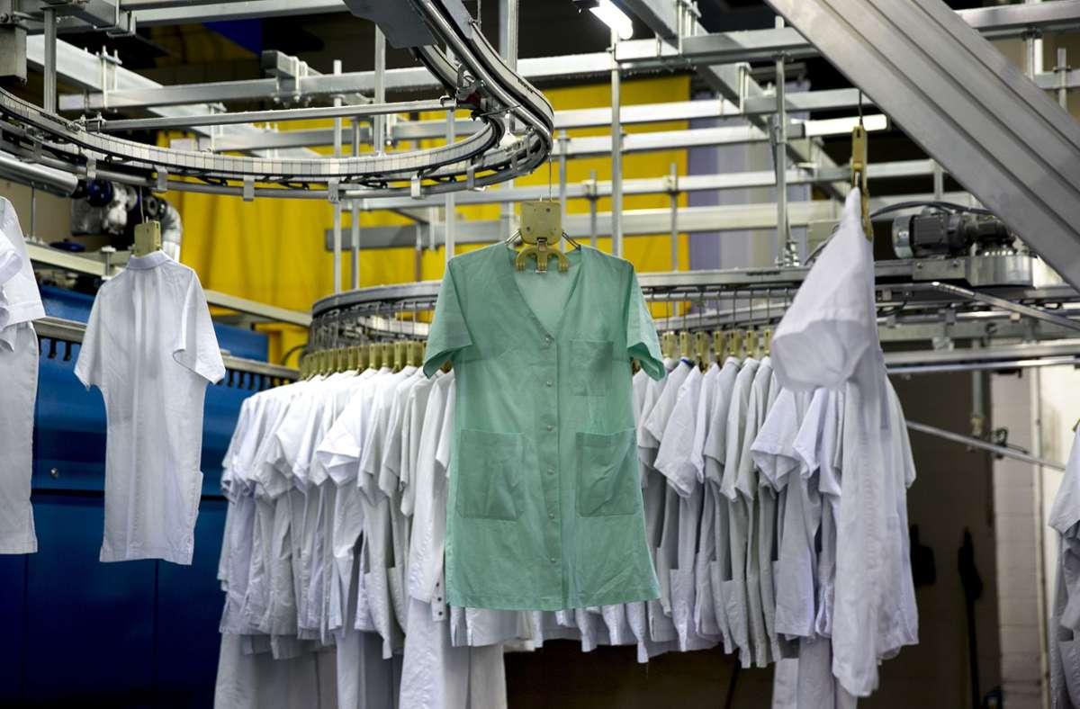 23 Mitarbeiter der Klinik-Wäscherei in Ludwigsburg sind derzeit in Quarantäne. (Symbolbild) Foto Foto: Pressefoto Horst Rudel/Horst Rudel