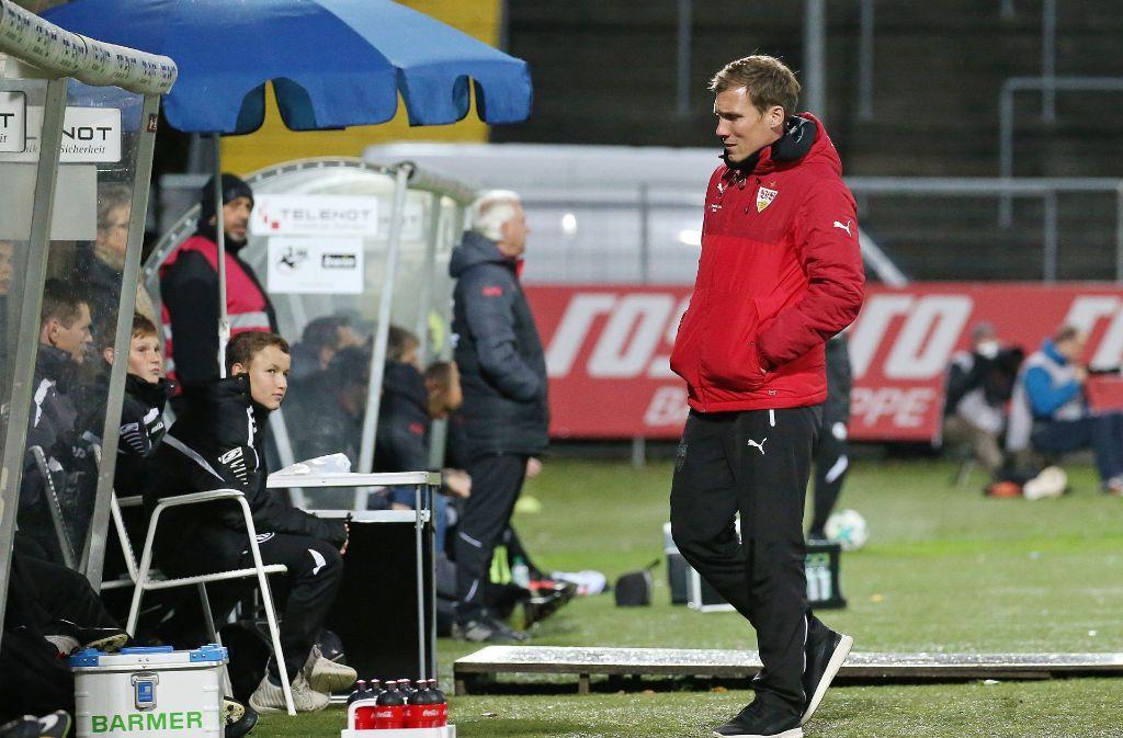 Trainer Hannes Wolf war mit dem Unentschieden am Ende aber nicht unzufrieden. Foto: Pressefoto Baumann