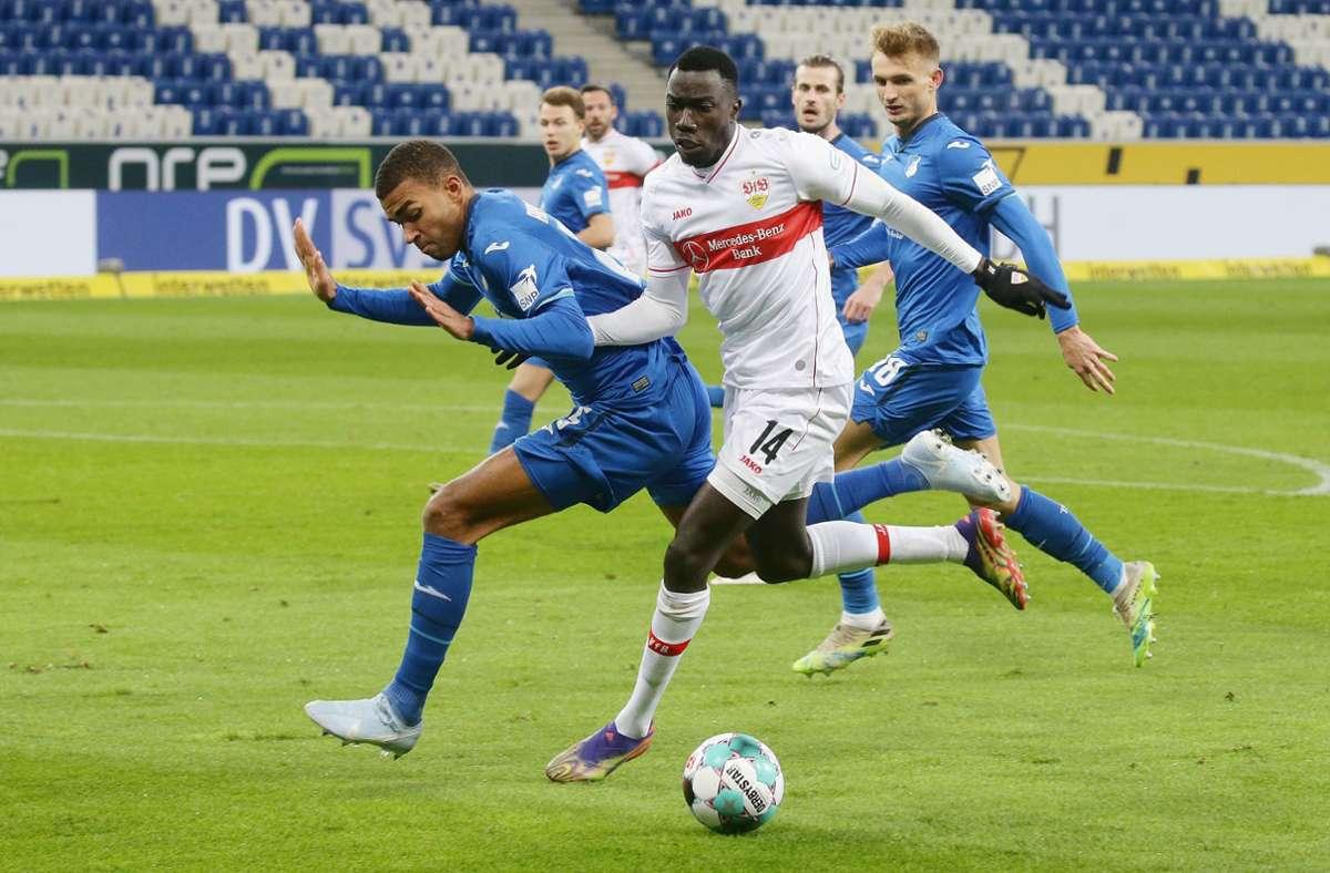 Silas Wamangituka (Nummer 14) erzielte gegen Hoffenheim seinen vierten Saisontreffer  (alle Wettbewerbe)und führt nun die teaminterne Torjäger-Wertung mit sechs Punkten an. Foto: Baumann