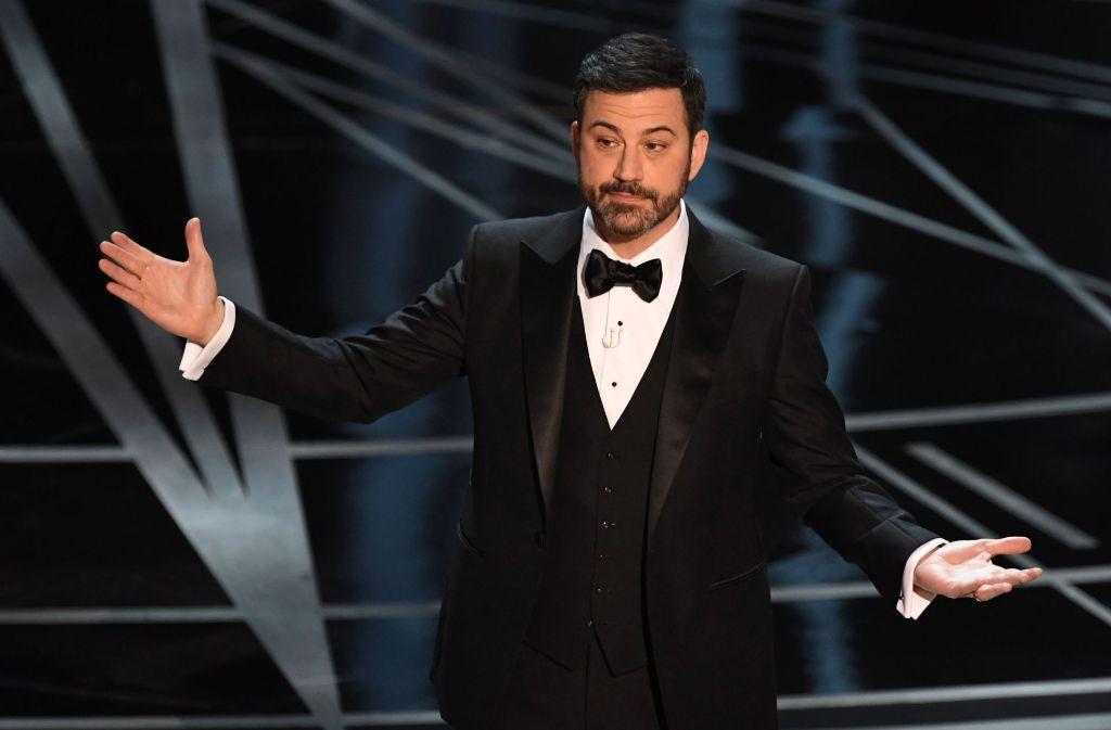 Der US-Komiker und Talkshow-Moderator Jimmy Kimmel (49) wird erneut Gastgeber der Oscar-Show. Foto: AFP