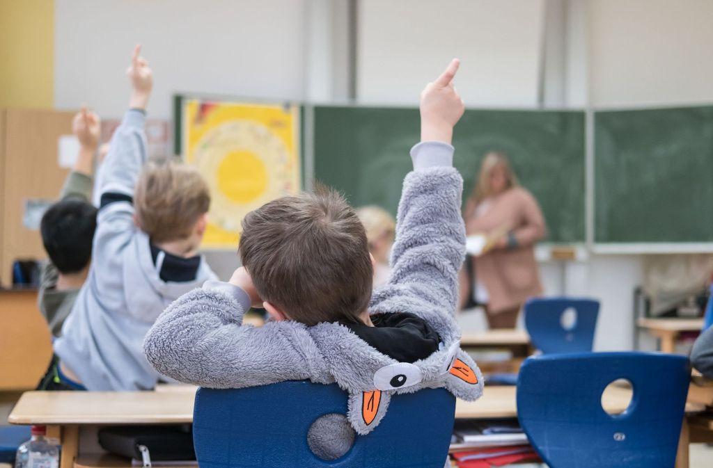 An den Grundschulen hat die statistische Trendwende schon eingesetzt. Foto: dpa