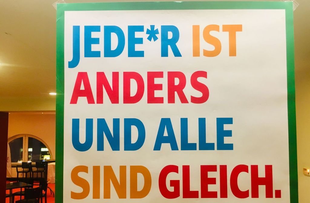 Das Motto des Forums der Kulturen in Stuttgart. Foto: Lichtgut/Leif Piechowski