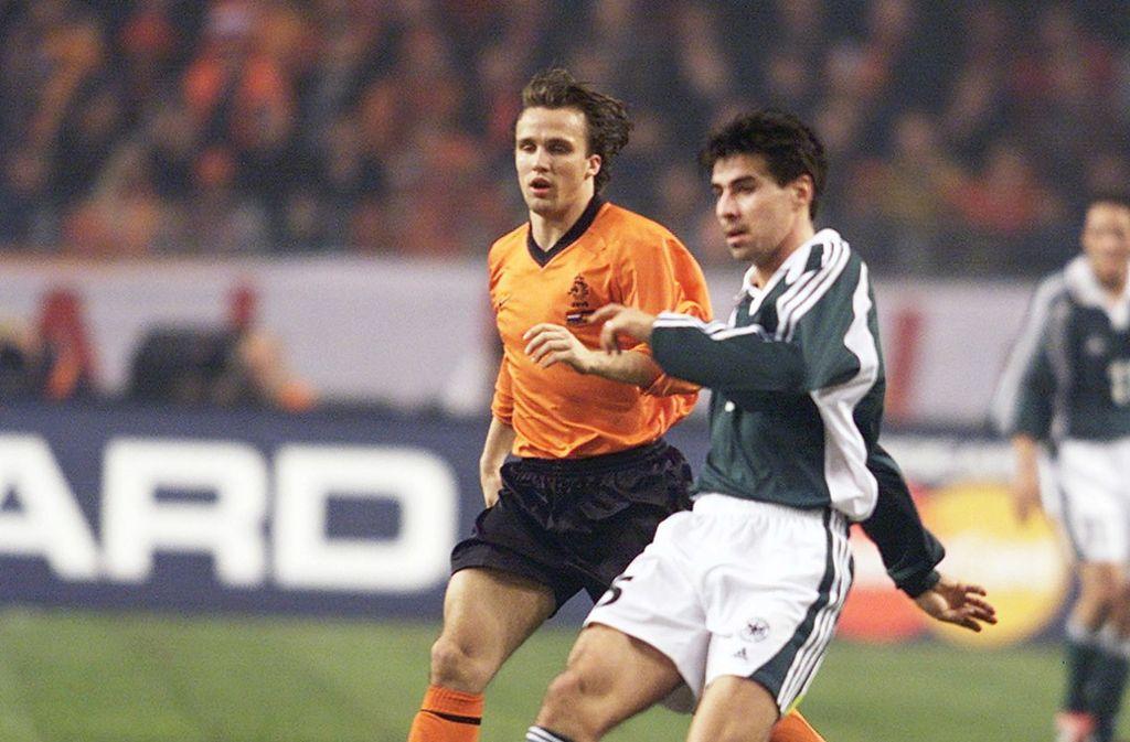 Zoltan Sebescen (rechts) kam für die DFB-Auswahl gegen die Niederlande zum Einsatz. Foto: Pressefoto Baumann/Hansjürgen Britsch