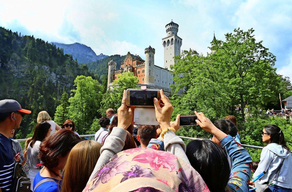 Beliebtes Fotomotiv: Schloss Neuschwanstein in Bayern. Foto: dpa