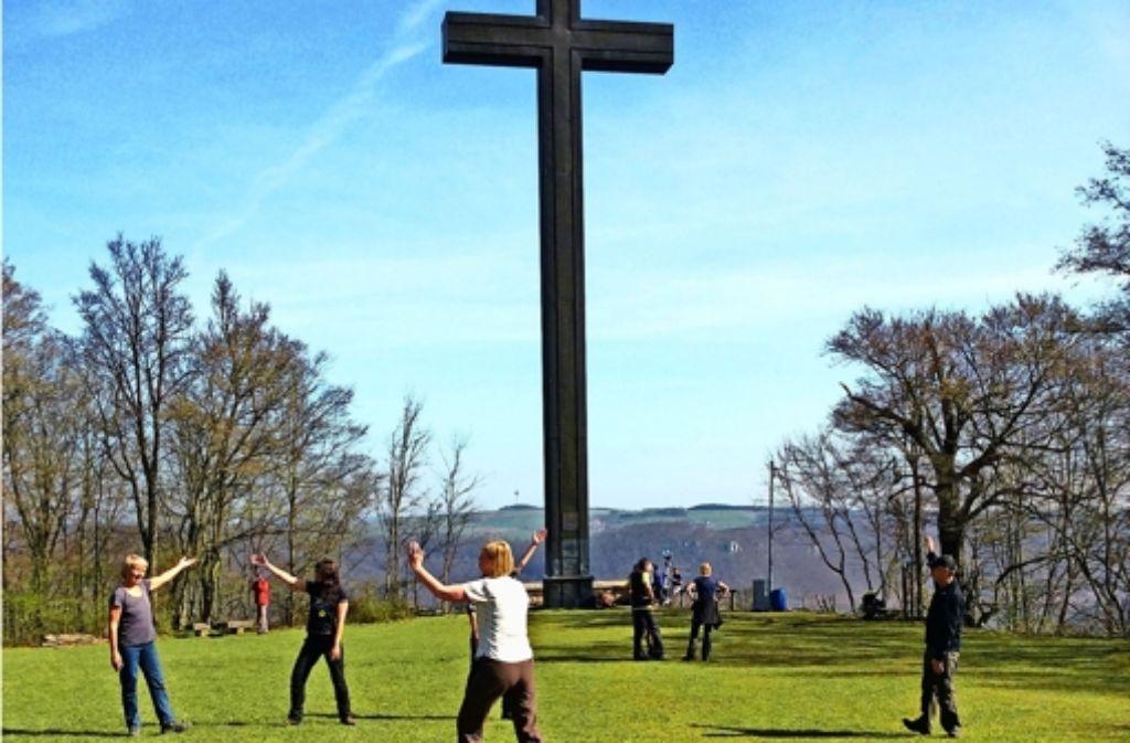 Am Ostlandkreuz lässt sich die Aussicht genießen – oder Tai Chi machen. Foto: ESA