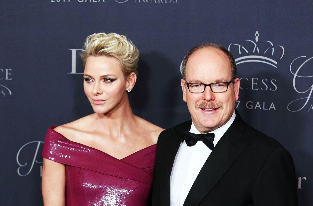 """Albert von Monaco und seine Frau Charlène verliehen in Los Angeles den """"Fürstin Gracia Patricia""""-Preis. Foto: dpa"""