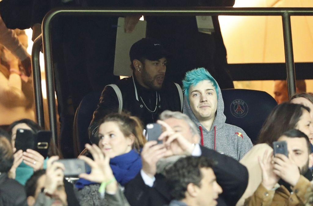 Schockstarre bei Neymar und Paris St. Germain nach dem Aus gegen Manchester United. Foto: AP