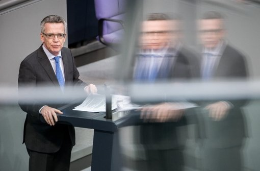 Bundesinnenminister Thomas de Maizière Foto: dpa