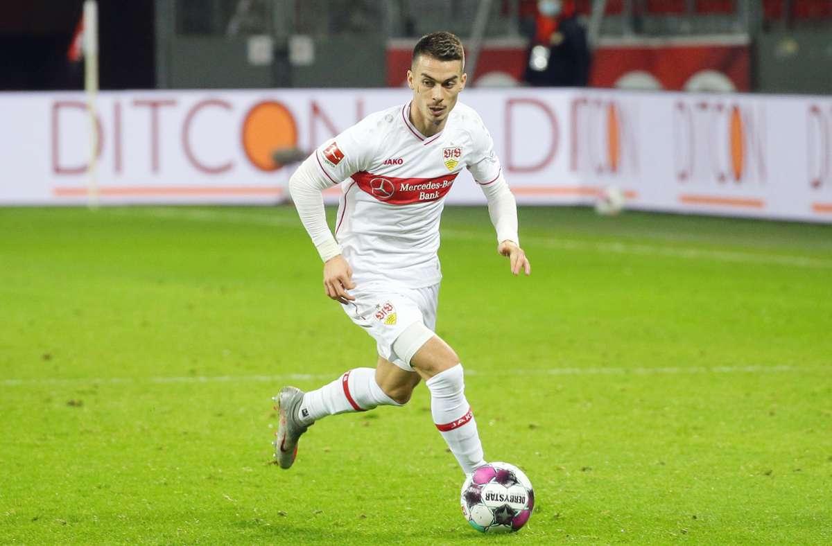 Erik Thommy stürmt mit dem Ball im Spiel des VfB Stuttgart gegen Bayer 04 Leverkusen im Februar. (Archivbild) Foto: Pressefoto Baumann/Hansjürgen Britsch