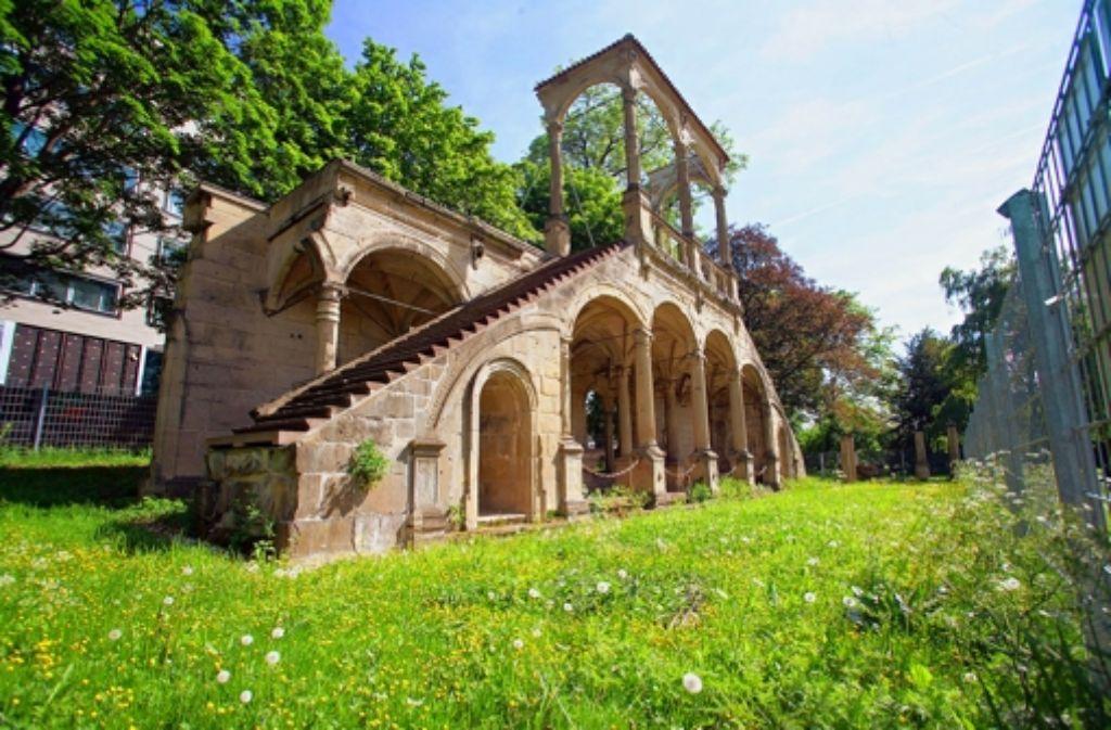 Die Lusthaus-Ruine im Schlossgarten ist der traurige Rest eines europaweit berühmten Renaissancebaus von 1583. Foto: Achim Zweygarth