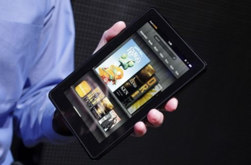 Das neue Lesegerät für elektronische Bücher von Amazon: Kindle Fire. Foto: AP