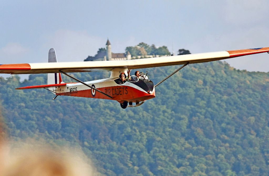 Das Fluggelände am Albtrauf weist eine ideale Thermik auf.  Foto: Fliegendes Museum