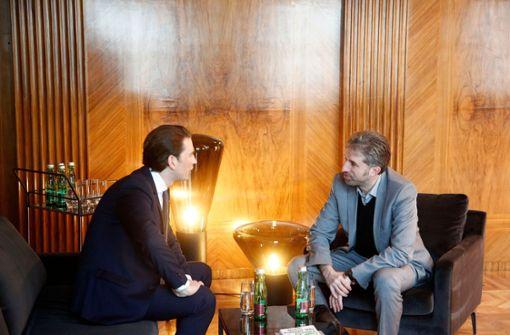 Boris Palmer auf Werbetour bei Sebastian Kurz