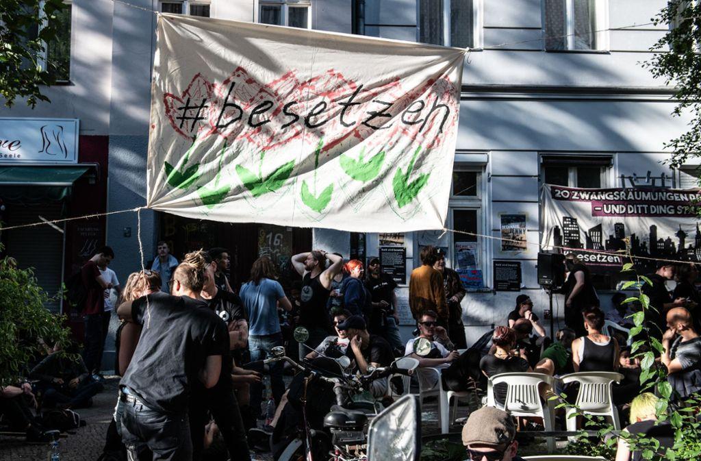 In Berlin haben Aktivisten Häuser besetzt. Foto: dpa