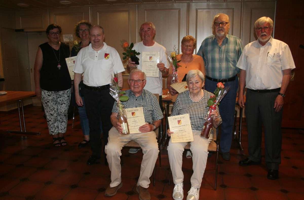 Ehrung für langjährige Mitglieder. Foto: Liederkranz Dagersheim