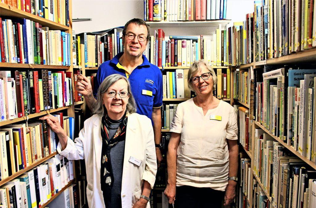 Maria Roser, Bernd Hoffmann und Monika Leistner (v.l.) sind engagiert dabei. Foto: Holowiecki