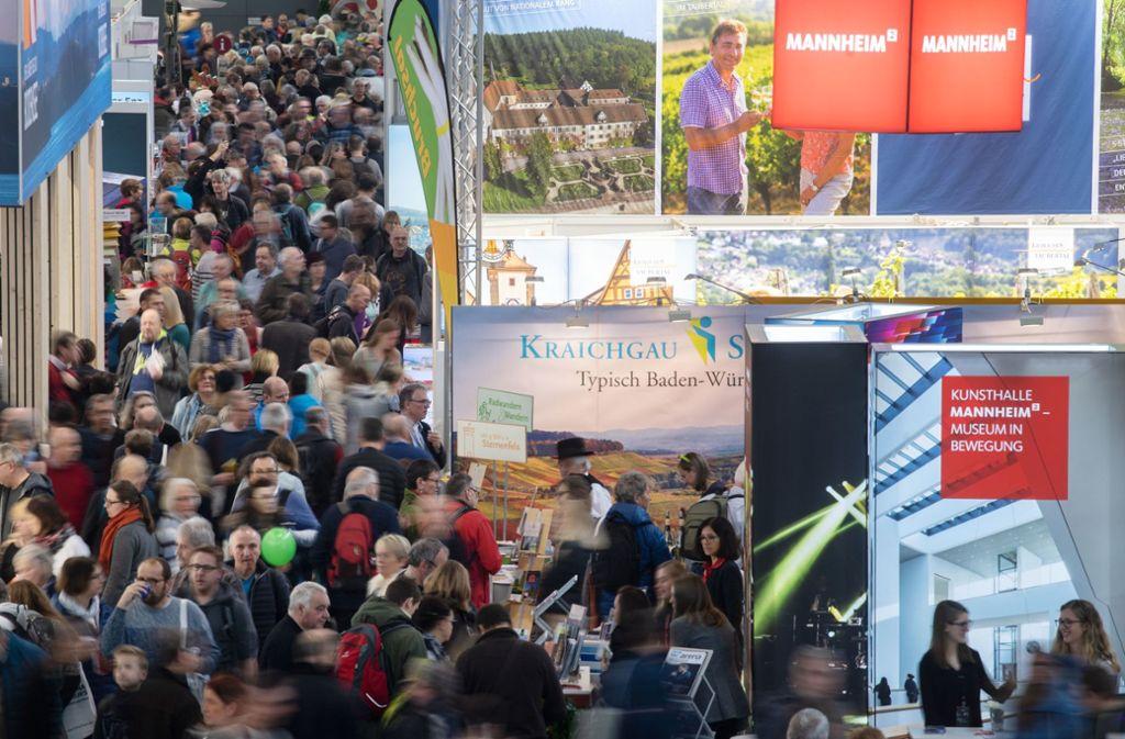 Am Samstag startet die CMT auf der Landesmesse Stuttgart. Foto: dpa/Marijan Murat