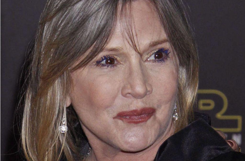 Schauspielerin Carrie Fisher wurde als medizinischer Notfall ins Krankenhaus eingeliefert Foto: EPA
