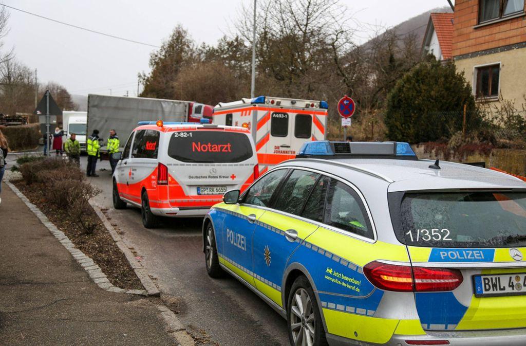 Der Unfall ereignete sich im Bad Überkinger Ortsteil Hausen an der Fils. Foto: 7aktuell.de/Christina Zambito