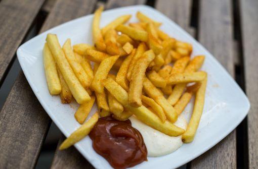 Gemüse statt Pommes mit Ketchup
