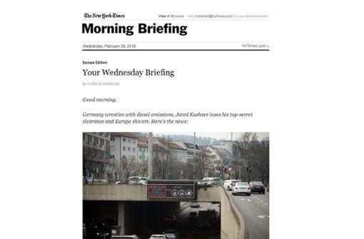 So schaffte es Stuttgart in die New York Times