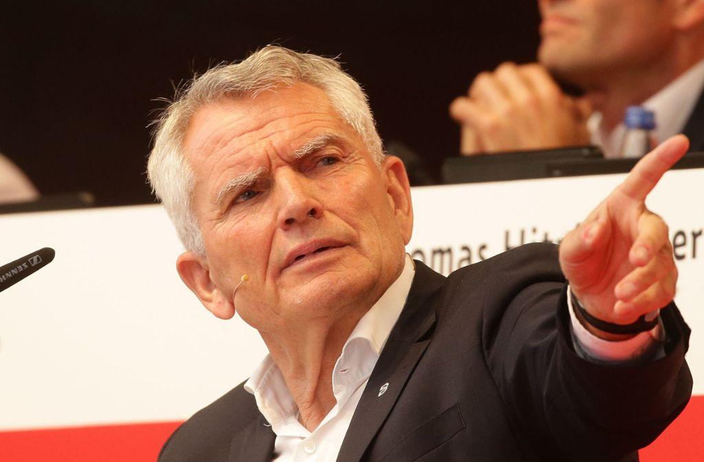 Ist nicht mehr Präsident des VfB Stuttgart: Wolfgang Dietrich. Foto: Baumann