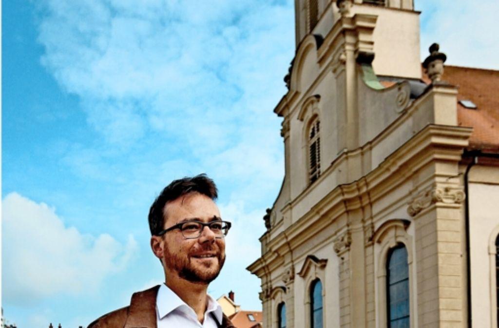 Sven Salwiczek wird leitender Pfarrer der Katholischen Kirche Ludwigsburg. Die Stadtkirche wird der Mittelpunkt der neuen großen Seelsorgeeinheit sein. Foto: factum/Granville