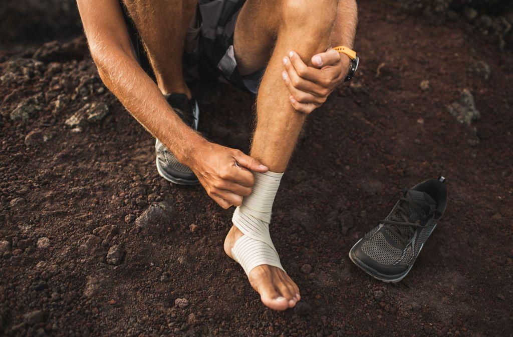 Auch mit einer kleinen Verletzung kann man Sport treiben. Foto: Oleg Breslavtsev –  Adobe Stock