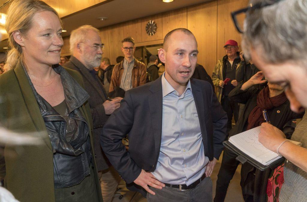 Böblingens neuer Oberbürgermeister: Stefan Belz (Bildmittte). Foto: factum/Weise