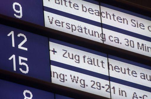 Warum so viele Züge unpünktlich sind