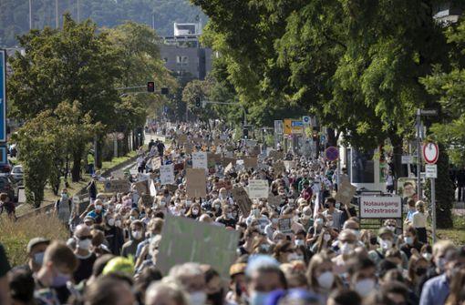 Tausende junge Klimaschützer protestieren allein in Stuttgart