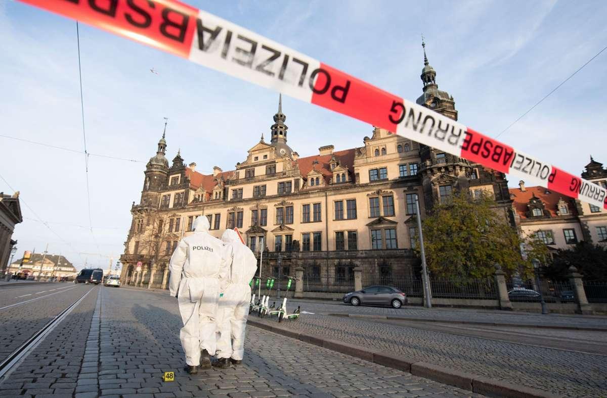 Seit November vergangenen Jahres hatte die Polizei nach den Zwilling gesucht. Ihm wird vorgeworfen, zusammen mit Komplizen in das Grüne Gewölbe in Dresden eingebrochen zu sein. Foto: dpa/Sebastian Kahnert