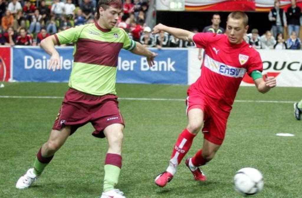 Einst beim VfB, heute Hoffenheim: Der in Nürtingen geborene Matthias Jaissle (rechts) wechselte im Alter von 13 Jahren vom TSV Neckartailfingen zum VfB Stuttgart (2001), im ... Foto: Pressefoto Baumann