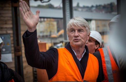 Christoph Ingenhoven wünscht sich mehr städtebauliches Engagement im Umfeld des von ihm entworfenen Bahnhofs. Foto: Lichtgut/Achim Zweygarth