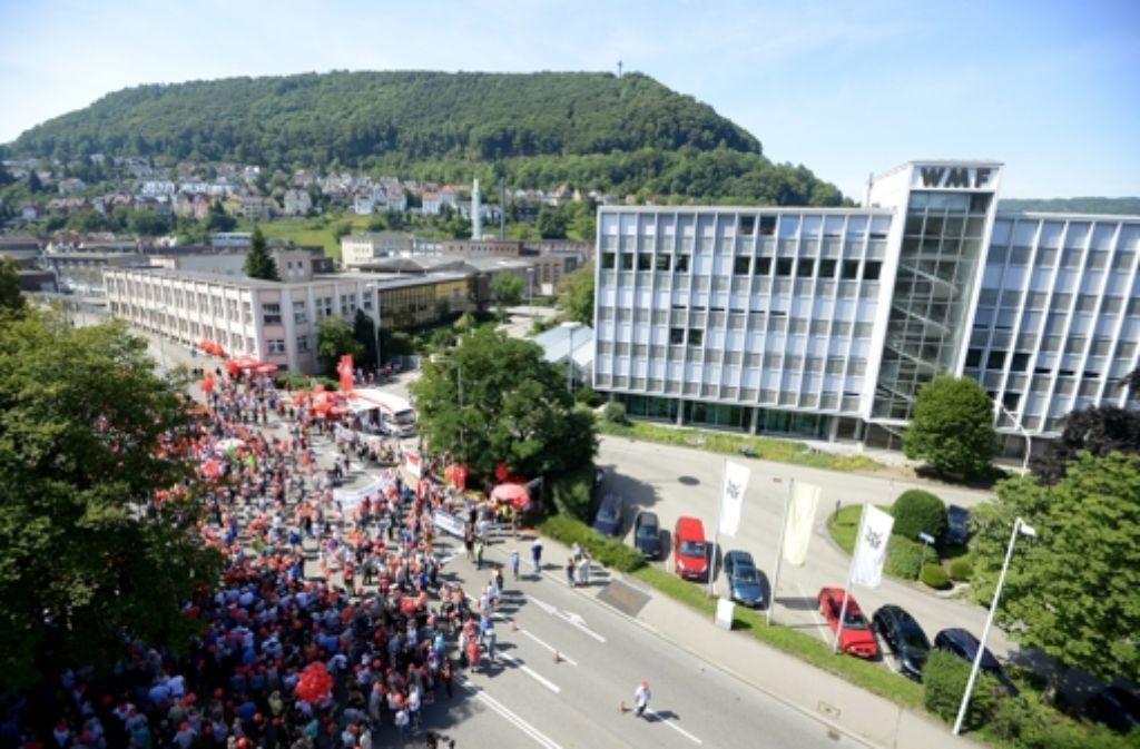 Die Vorgänge bei der WMF sorgen in Geislingen für Aufregung. Foto: dpa