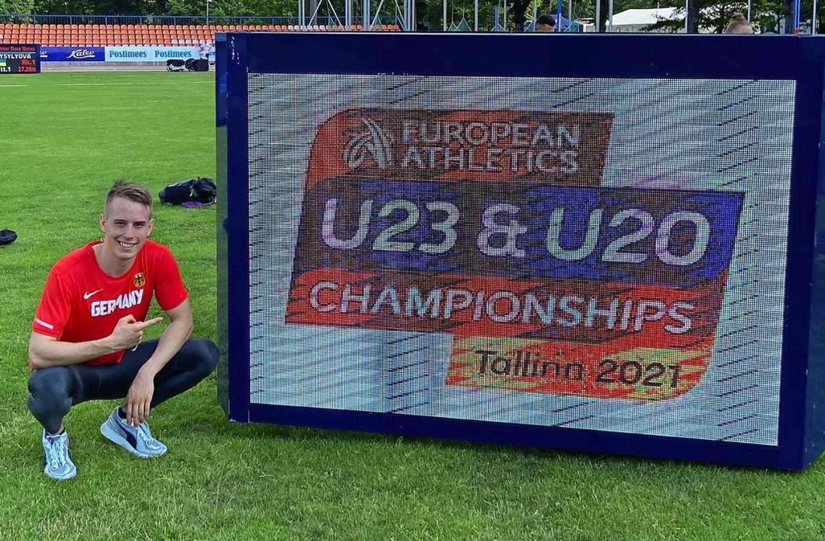 Vor den U-23-Europameisterschaften war Stefan Volzer noch bestens aufgelegt. Foto: Privat