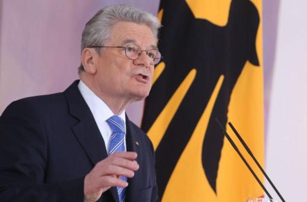 Diese Grundsatzrede war mit Spannung erwartet worden: Bundespräsident Joachim Gauck hat mehr Einsatz der Bürger für Europa gefordert. Foto: dpa