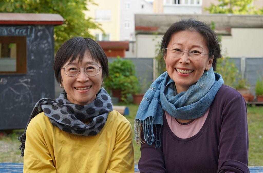 Nagomi Norimatsu (links)  und Kaori Kochi setzen sich für Kinder ein, die in Fukushima leben. Foto: Lichtgut//Metahan Demirkaya