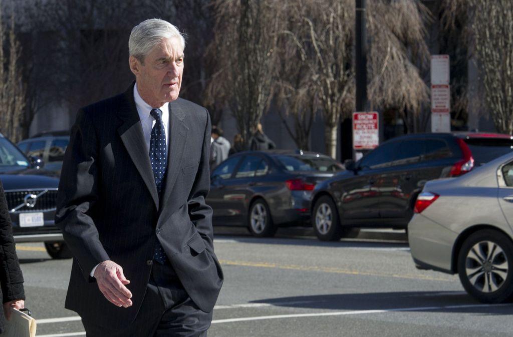 US-Sonderermittler Robert Mueller ist dem Vorwurf nachgegangen, es soll 2016 geheime Absprachen zwischen Trumps Wahlkampflager und Russland gegeben haben. Foto: AP