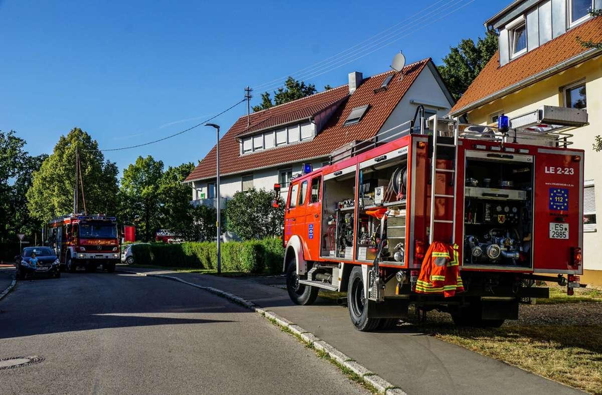 Ein Topf in einer Küche in Leinfelden-Echterdingen hat Feuer gefangen. Die Flammen griffen auf die Möbel über. Foto: SDMG/Kohls