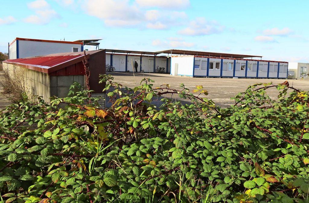 In diesen Containern am Ortsrand von Echterdingen wohnen noch immer  bis zu 30 Menschen. Foto: Kanter