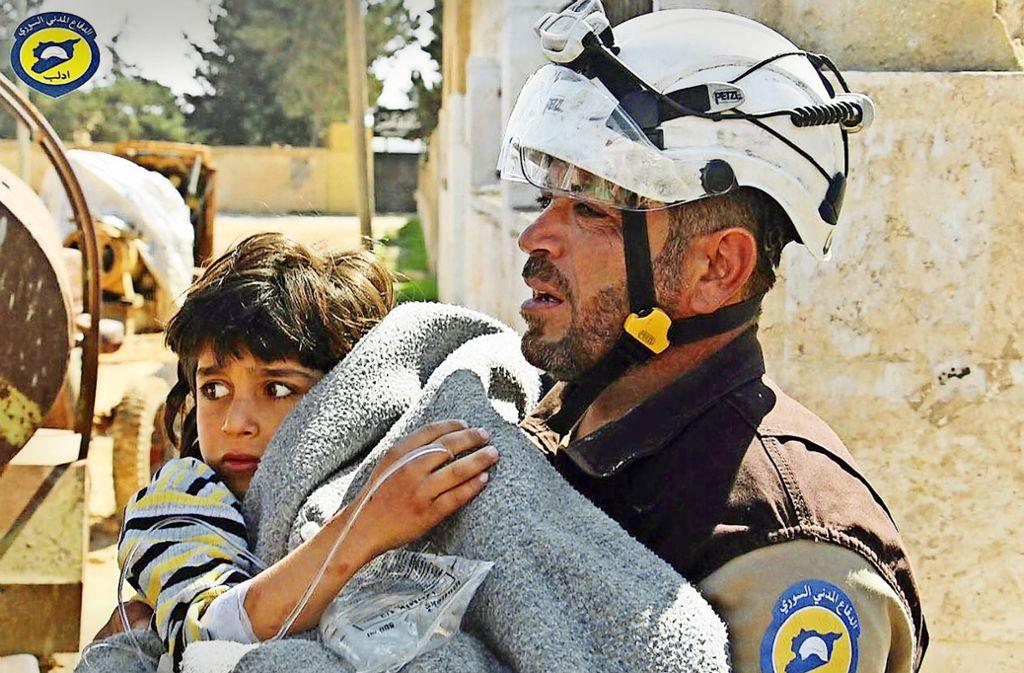 Die Weißhelme haben in Syrien zehntausende Menschen aus den Trümmer geholt. Foto: dpa
