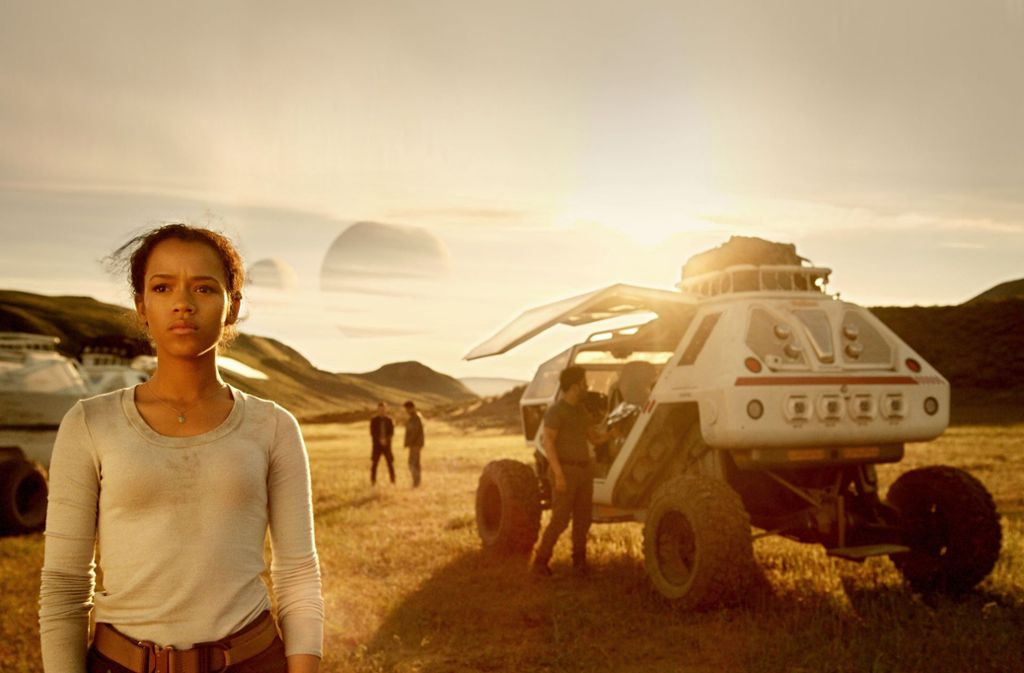 """Die Familie Robinson im Weltall: Taylor Russell in der Science-Fiction-Serie """"Lost in Space""""Foto:Netflix Foto:"""